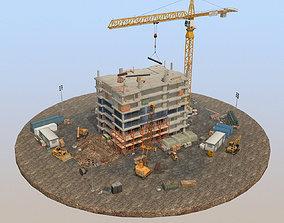 3D asset game-ready Under Construction Scene Pack