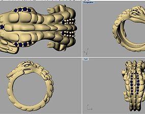 Dragon ring 3D print model jurassic