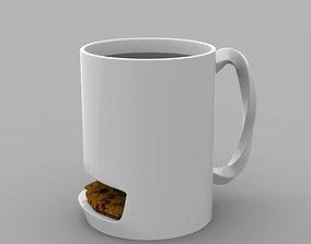 Mug with cookie slot 3D printable model
