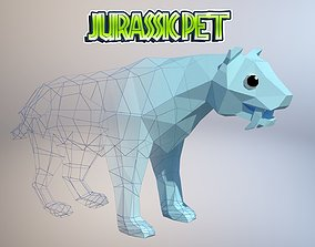 3D asset Saber toothed tiger