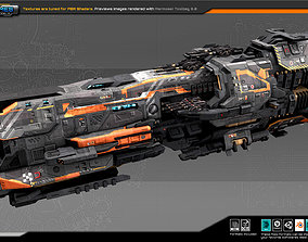 Federation Destroyer GX4 3D model