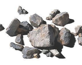Rock Scans - 3D PBR Low Poly Models Pack low-poly
