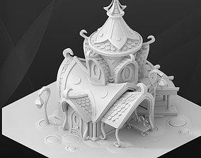 Fantasy game building - Elf house 3D model