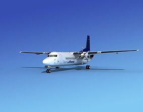 Fokker 50 Team Lufthansa 3D