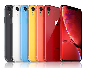 3D model apple-iphone-xr-all-colors