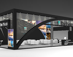 Exhibition Stand Booth 12x6m 3D model presentation