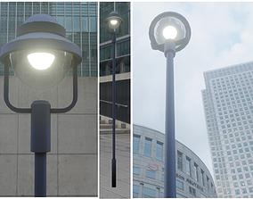 Street Light 5 Low-Poly Version 3D asset
