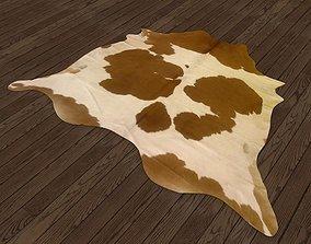 Cowhide rug 3D asset