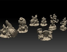 Fey Nature and Houses Tabletop Scenery 3D print model