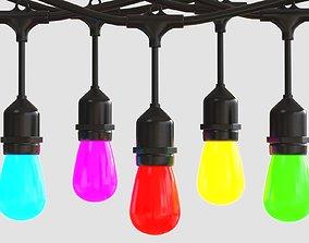 3D asset Bulb 48ft 15 LED