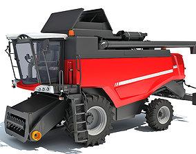 industrial Combine Harvester 3D