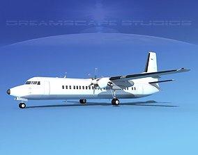 3D model Fokker F-60 Unmarked 1