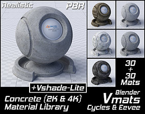 VMATS Concrete Material Library for Blender 3D model 3