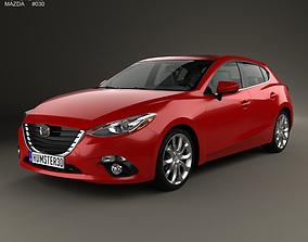Mazda 3 hatchback 2014 3D