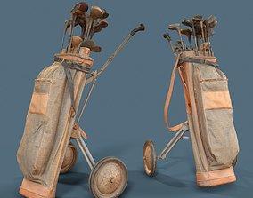 3D asset Golf Cart