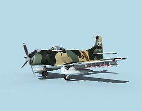 Douglas A-1H Skyraider V23 SVAF 3D