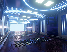 Scifi Corridor tunnel 3D