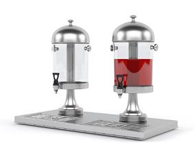 3D model Juice Dispenser glass