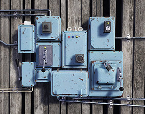 3D asset VR / AR ready Electrical Boxes PBR
