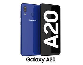 Samsung Galaxy A20 Blue 3D model