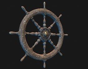 3D asset Low Poly PBR Ship Wheel