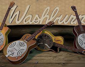 3D model Washburn Resonator guitar