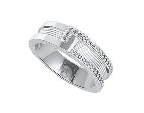 Wedding Band Ring For Women STL ready For 3D Printing