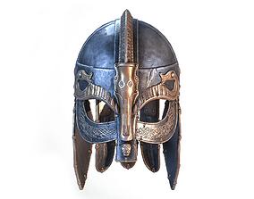 3D asset realtime PBR Viking helmet