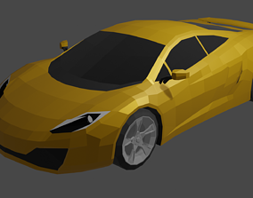 3D asset McLaren MP4-12C