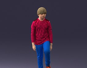 Boy with soccer ball 1224 3D model