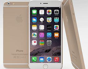 3D asset iPhone 6 Plus Gold