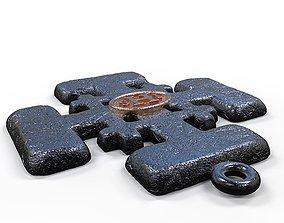 3D printable model Jerusalem Cross Textured
