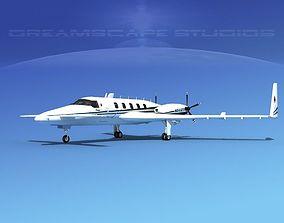 Beechcraft Starship 2000 T14 3D