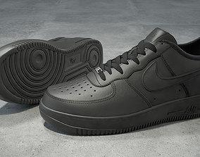 Nike Air Force 1 low black 3D model VR / AR ready