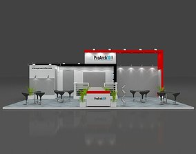 Exhibition stall 3d model 10 mtr x 6 mtr 3 sides