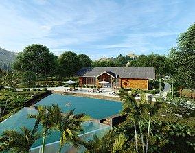 3D model Laos Thalat Resort