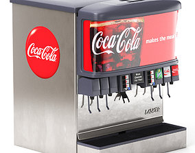 3D business 12 Flavor Ice and Beverage Soda Fountain