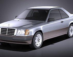 Mercedes-Benz E class W124 Coupe 1990 VRAY 3D model
