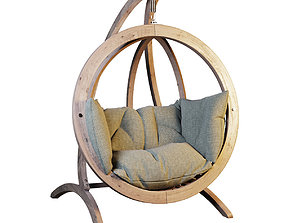 3D Hanging rocking chair