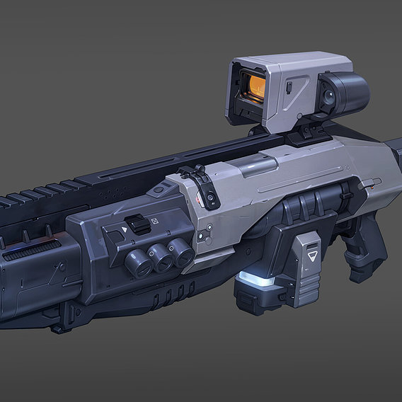 Futuristic weapon (60 hours)