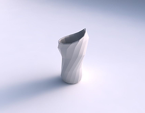 3D print model Vase vortex smooth with curved creases