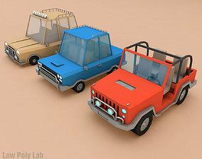 3D model Cartoon City Cars Pack