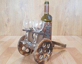 Wine glass carrier 3D print model