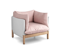 Lucy Kurreinfor SCP Tepee armchair 3D model