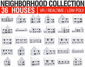Neighborhood Houses Collection - 36 Pack 3D asset
