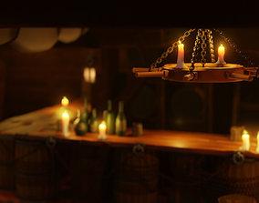 Medieval Tavern 3D asset game-ready