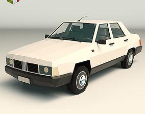 Low Poly Sedan Car 07 3D model realtime