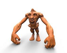 3D printable model FACE APE creature concept