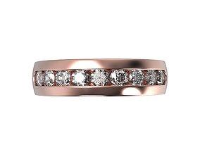 Ring Channel Gem 3mm All finger size 3D printable model