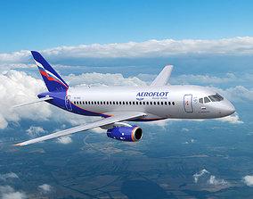 airplane Sukhoi Superjet 100 3D model